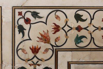 Agra - Taj Mahal - Decorations