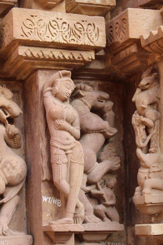 Khajuraho - Temple carvings