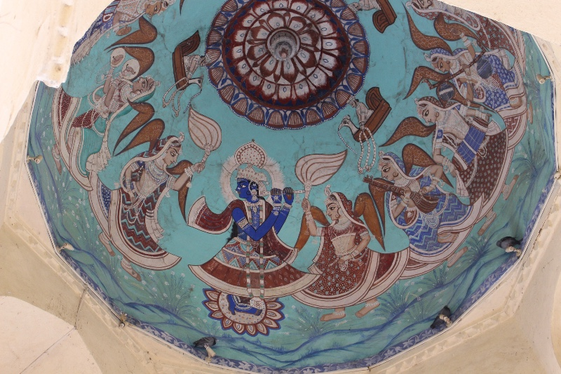 Dome in City Palace in Udaipur