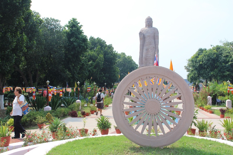Sarnath - Buddha and Wheel