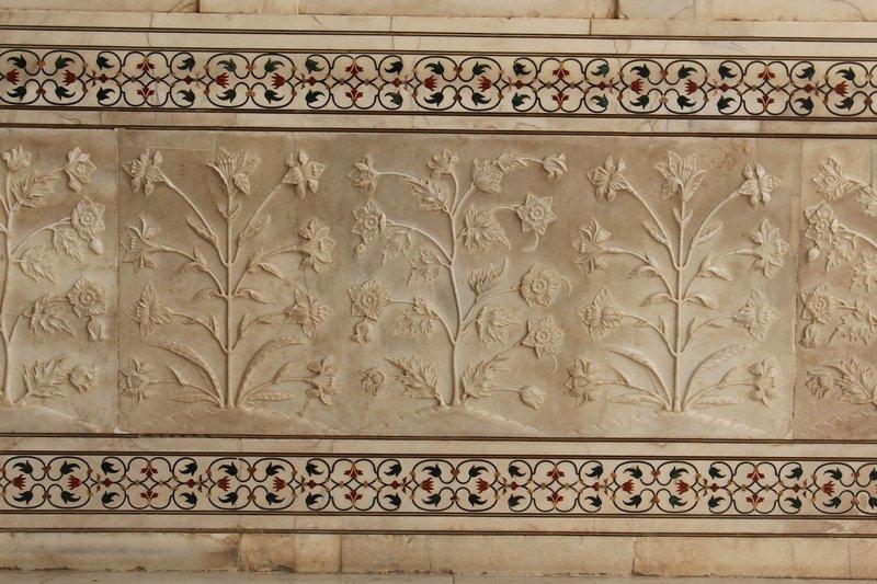 Agra - Taj Mahal Detail