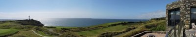 View while eating lunch at Old Head of Kinsale Golf Links