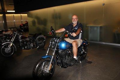 Wayne on a Harley
