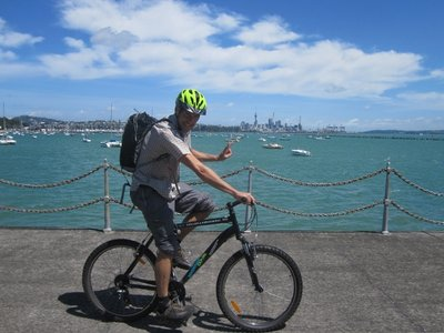 biking in auckland