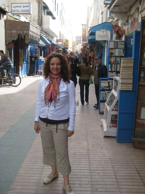 Jayme in Essaouira, Morocco - shopping in the Souk!