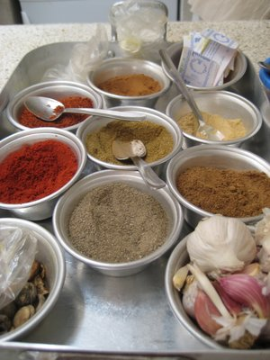 Spices in Moroccan Cooking class