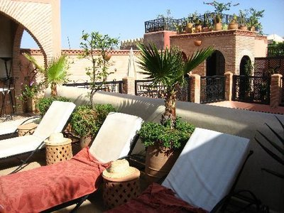 El Bacha Riad - Terrace with Loungers