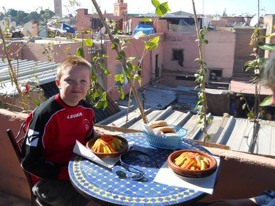 Vegetable tagine on the terrace