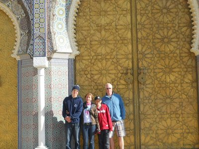 In front of the King's Palace in Fes