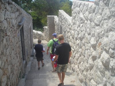 Walking the 390 stairs to the beach