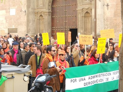 Demonstration in the streets of Seville