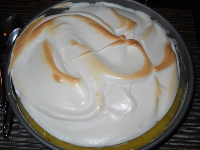 Homemade lemon meringue pie for Easter dessert