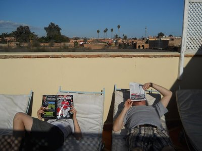 Sunny afternoon on the terrasse of our riad