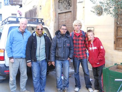 Our tour crew...driver Hassan and guide Mohammed dropping us off in Fes