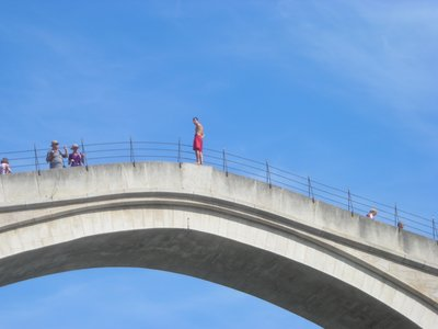 Bridge jumper in Mostar