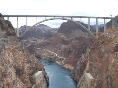 Downstream from Hoover Dam