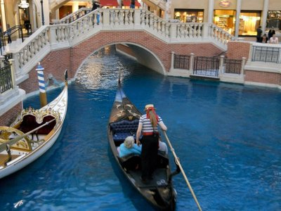 Just like Venice...on the second floor of a casino