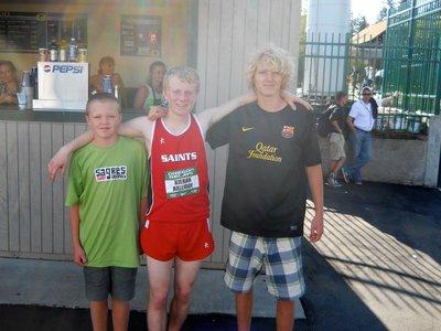 Angus, Kieran & Max in Eugene