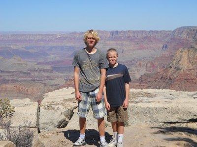 Posing at the Canyon edge