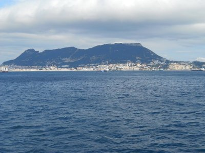 Our first view of Gibraltar