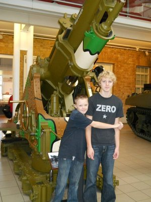 Max and Angus explore the Imperial War Museum
