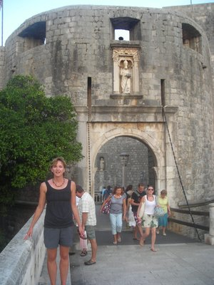 Outside the gates of the Old Town