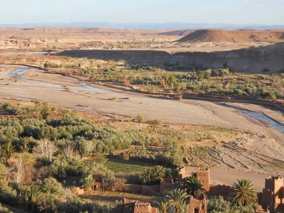 River in Ait Ben Haddou