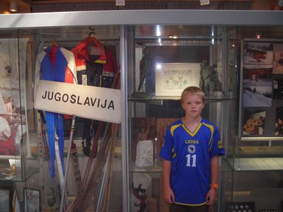 Angus in his new Bosnia-Herzegovina football shirt.