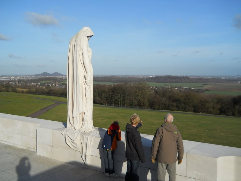 Vimy Monument to Canadian soldiers.