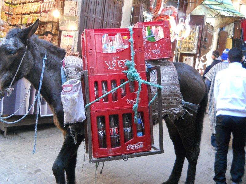 Coke truck in the medina