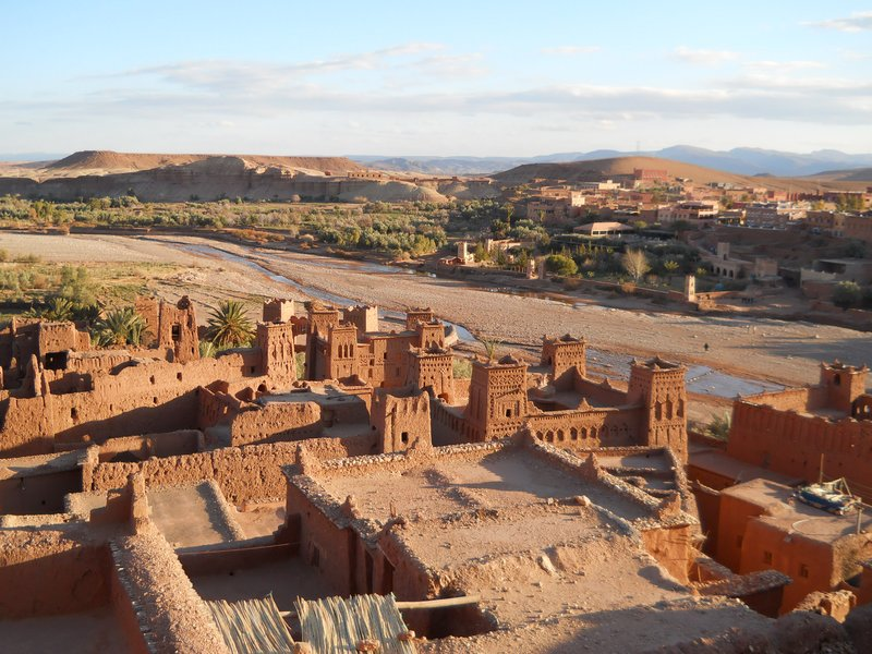 Looking over the Kasbah below