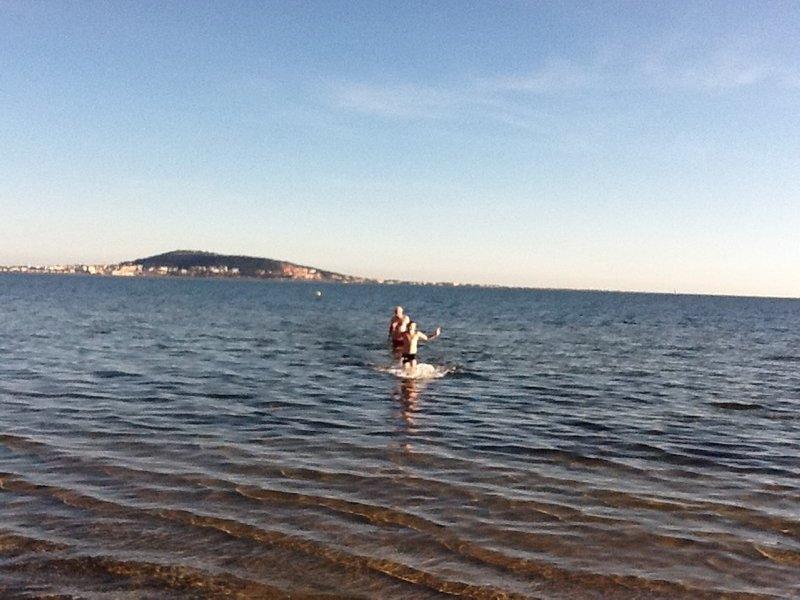 A winter swim in Mèze.