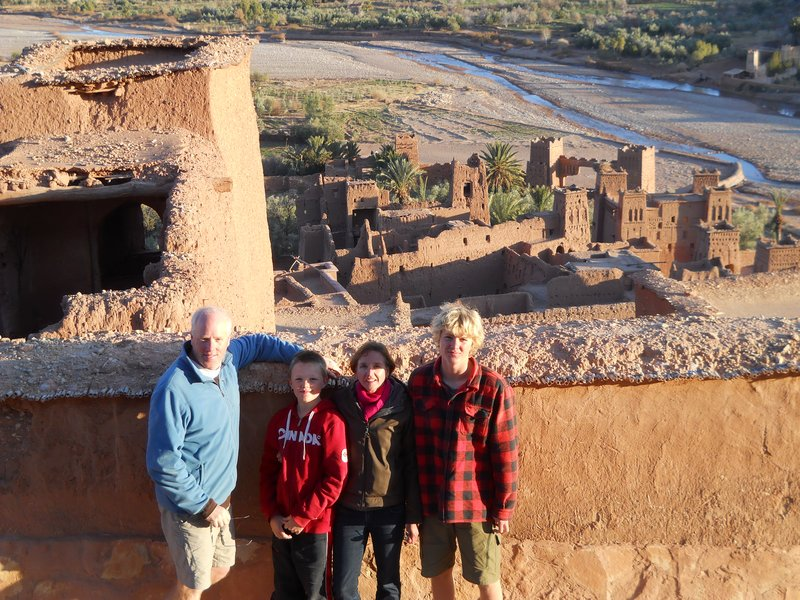 Overlooking the Kasbahs in Ait Ben Haddou
