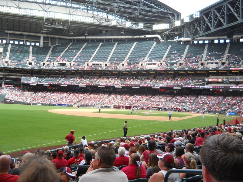 Regular season baseball game - seeing the Diamondbacks in action