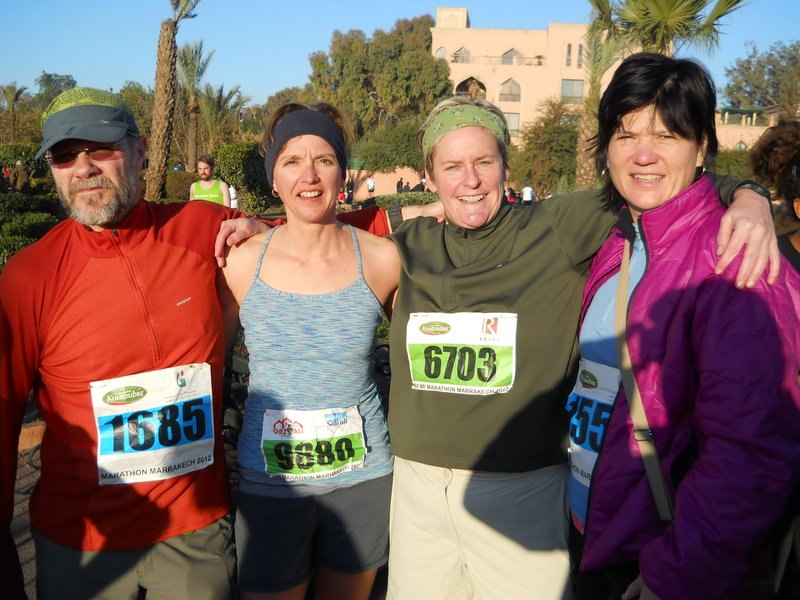 Successful runners in Marrakech
