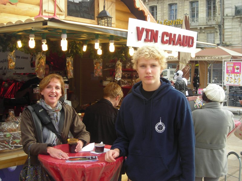 Max (reluctantly) skipped a Friday from school to spend it in Montpellier with his parents.