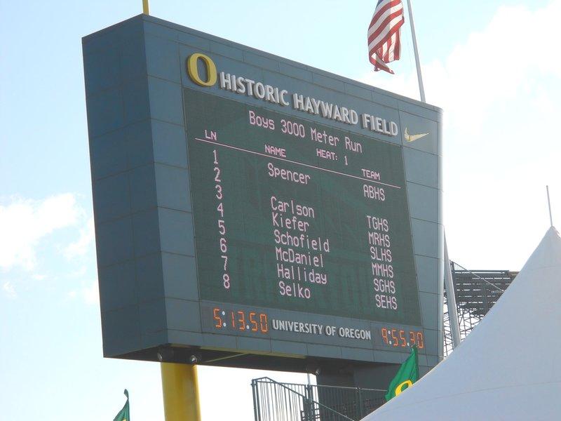 Kieran's Track Heat in Eugene