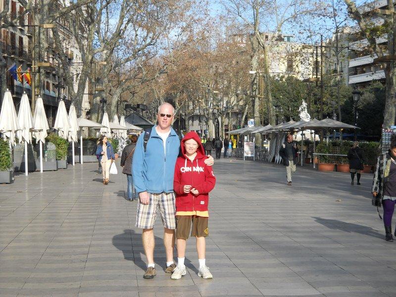 Nils and Angus strolling La Rambla