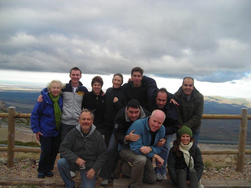 Spanish group at a monastery near La Alberca
