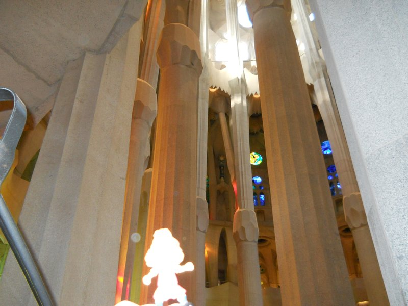 Puyol - awestruck as well in Sagrada Familia
