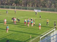 Sunday rugby game in Mèze.