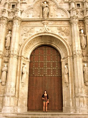 Huge door into a Cathedral
