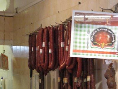 farmers market - sausages
