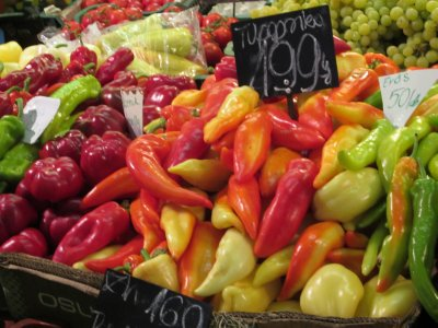 farmers market - paprika peppers
