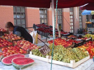 Farmers market - outside stall