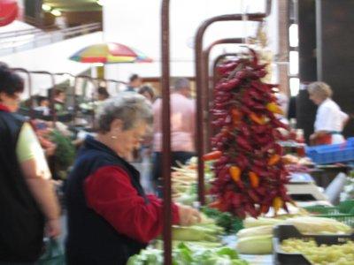 Farmers market - paprika peppers