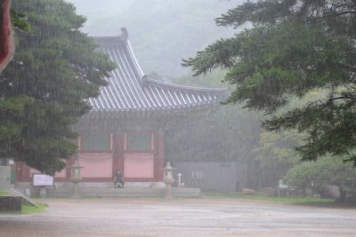Beomeosa Temple in the Rain