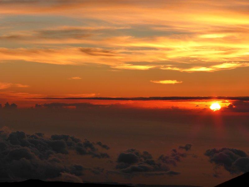 Sunset at 13,976 feet