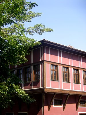 Pink house in the Old town of Plovdiv