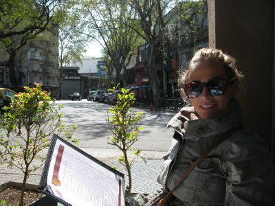 Paa cafe i Palermo